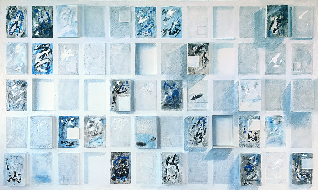 """Altared Wall"" mixed media 36""X 61"""